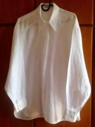 6396e215e1 Vendo camisa de linho puro branca nova feminina