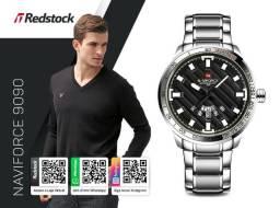 cbdbf404f8d Relógio Naviforce® 9090 Masculino Aço Inox - Prata   3x Sem Juros e Frete  Grátis