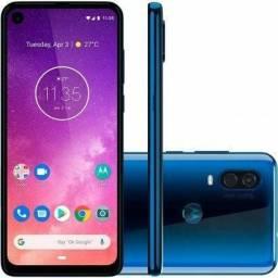 Smartphone Motorola Moto One Vision 128Gb Lacrado - Nota F - Parcele até 12x Cartão