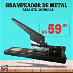 Grampeador de metal para até 100 fls