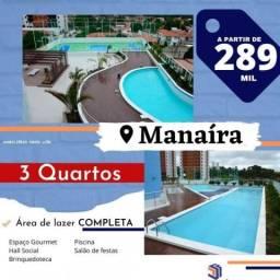 Apartamento para Venda em João Pessoa, Manaíra, 3 dormitórios, 1 suíte, 1 banheiro, 1 vaga
