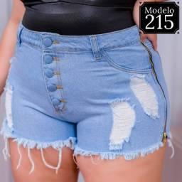 Shortinho Short Jeans Feminino Plus Size Moda do Momento Atual -Leminsk Deluxe [ShpSHJ_H]