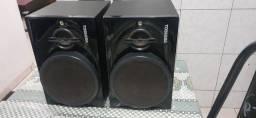 Caixas de mini system Toshiba 450w /rms.320 as 2 caixa.