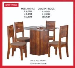 Mesa Vitoria 4 cadeiras