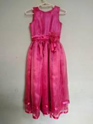 Vestido Infantil Rosa, com base