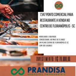 7347 Ponto comercial para restaurante no Centro de Florianópolis