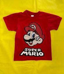 Camiseta infantil Super Mário