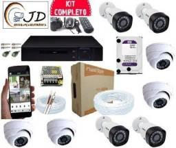Cameras kit completo con gravaçao24hs + sistema anti roubo,furto + acc no celular