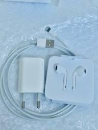 Acessórios originais iphone cabo USB fonte fone de ouvido