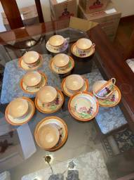 jogo de xicaras em porcelana japonesa