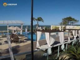 Apartamento com 3 dormitórios frente mar, pé na areia à venda por R$ 1.350.000 - Bairro It