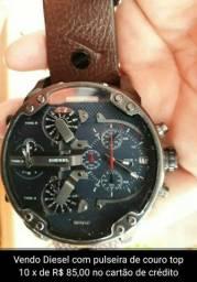 Relógio diesel pulseira de couro