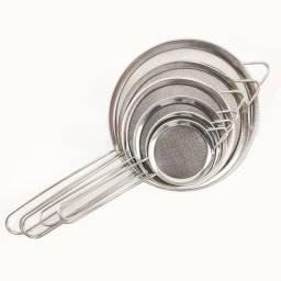 Peneiras e Coadores Para Sucos Frutas Kit Aço Inox 6 peças Utensilios de cozinha Bar