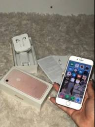 iPhone 7 Rose Completo Novinho