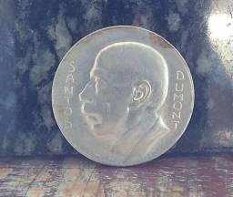 Moeda De Prata, Ano 1938, 5000 Réis, Santos Dumont<br><br>