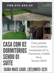 (**)Excelente Casa com 02 dormitórios sendo 01 Suíte no CJ. Canaranas(**)