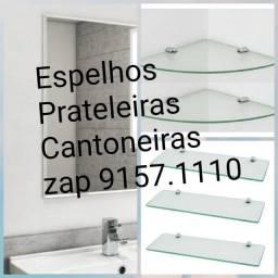 ESPELHOS PRATELEIRAS E CANTONEIRAS