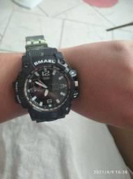 Relógio militar SMAEL analógico e digital com bússola