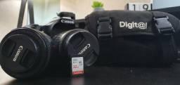 Kit Câmera Canon EOS 70D + lentes 18-55 / 50mm + cartão 32GB