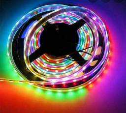 Fita Led RGB completa com fonte e controle