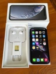 Iphone XR 64gb preto impecável todos acessórios originais