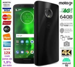 """Moto G6 64GB Octa Core, 4GB Ram, Tela 5.7"""", Dual Câm, Novíss, Caixa, Nota e Gar"""