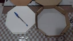 Papel Manteiga Octogonal 20cm - Forrar Fundo Caixa Mini Pizza (brotinho) N.20