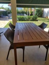 Leme mesa + 4 cadeiras tok&stok