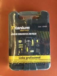 Caixa de Ferramentas Titanium - Kit de 200 peças