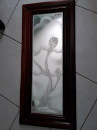 Quadros jateado em espelho em Art Nouveau.