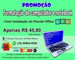 Título do anúncio: Formatação de Computador & Notebooks