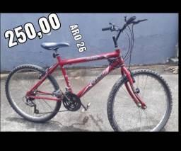 Título do anúncio: Bicicleta aro 26 vermelha marcha bike ciclismo