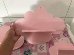 Trio de prateleira nuvem