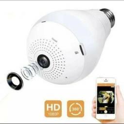 Lâmpada LED com Câmera 360º WIFI v380 App para iPhone e Android