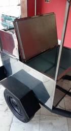 Reboque para espetinho e caixa térmica NOVO