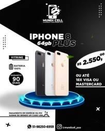 @mundicell_poa IPhone 8 Plus 64gb vitrine novo garantia