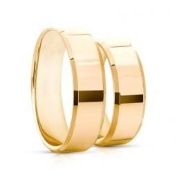 Oferta Imperdivel alianças folhadas a ouro 18k com garantia total