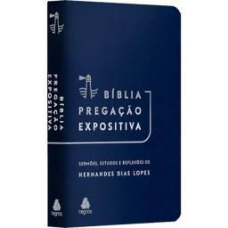 BÍBLIA PREGAÇÃO EXPOSITIVA AZUL - Hernandes Dias Lopes