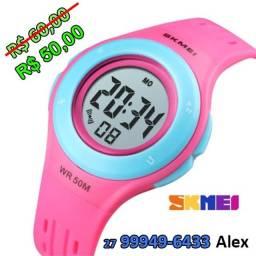 Relógio Infantil Skmei Digital 1455 Rosa ou Azul