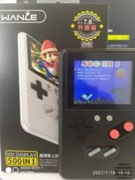 Mini Vídeo Game Portátil com 500 Jogos Inclusos
