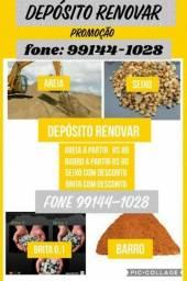 Título do anúncio: AREIA  / BARRO  / BRITA  / SEIXO  PROMOÇÃO