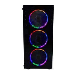 Gabinete Gamer Evus G16 Novo Lacrado com 3 Fan/Cooler RGB
