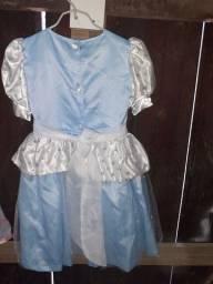 Vestido infantil para meninas 7 a 8anos