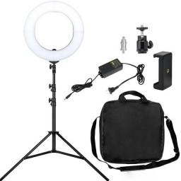 Ring Light Led 14'p 35 Cm Tripe 2m Maquiagem Youtuber Blog