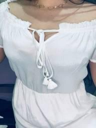 Vestido shouder branco