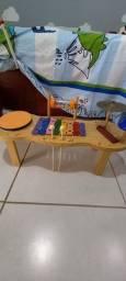 Instrumento musical infantil - Percussão de madeira.