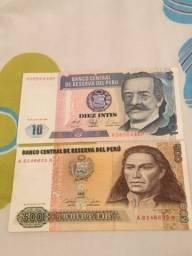 cédulas/notas peruanas antigas.