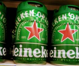 Barril de chopp da Heineken