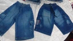 Título do anúncio: Bermudas jeans infantis novas