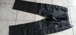 Calça em couro masculino para motociclistas 200,00 reais